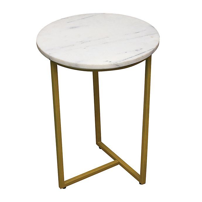Alternate image 1 for Marble Metal Leg Accent Table