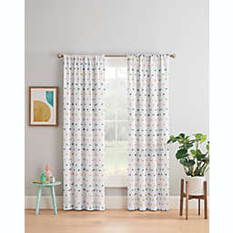 Marmalade™ Sheer Dot Rod Pocket/Back Tabs Blackout Window Curtain Panel