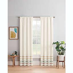 Marmalade™ Pom Pom Stripe 63-Inch Rod Pocket/Back Tabs Blackout Window Curtain Panel