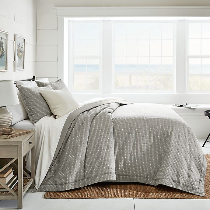 Alternate image 1 for Bee & Willow™ Dotted Lines 3-Piece Comforter Set in Grey