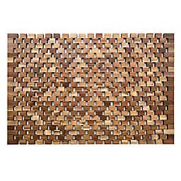 "Haven™ 20"" x 32"" Acacia Wood Tub Mat"
