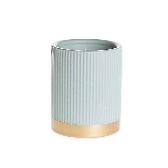 Alternate image 1 for O&O by Olivia & Oliver™ Fern 14.5 oz. Fluted Metallic Band Jar Candle