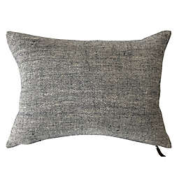 Bee & Willow™ Home Solid Woven Linen Oblong Throw Pillow in Navy