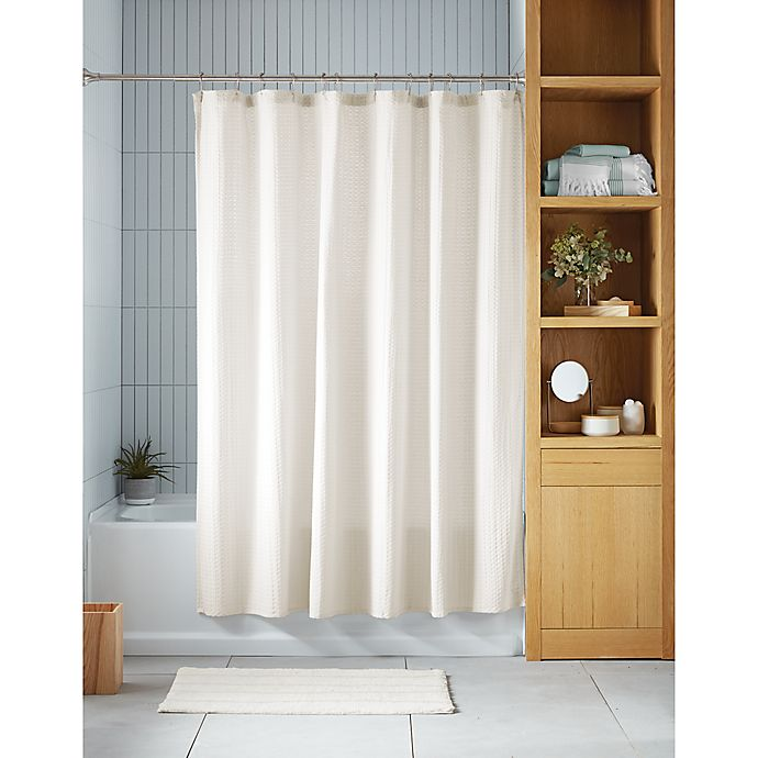 Alternate image 1 for Haven™ Waffle Shower Curtain