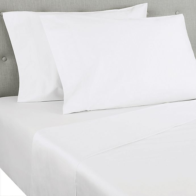 Alternate image 1 for Nestwell™ Ultimate Percale 400-Thread-Count Twin XL Flat Sheet