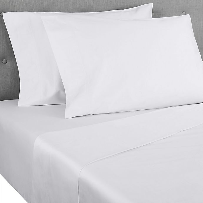Alternate image 1 for Nestwell™ Pima Cotton Sateen 500-Thread-Count Full Sheet Set in Bright White