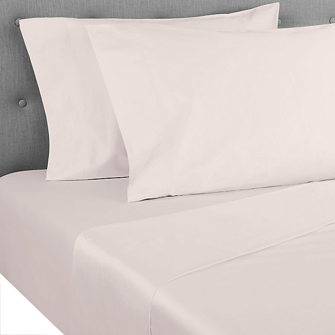 Alternate image 1 for Nestwell™ Pima Cotton Sateen 500-Thread-Count Twin Sheet Set in Silver Peony