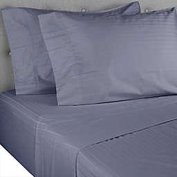 Nestwell™ Pima Cotton 500-Thread-Count California King Sheet Set in Folkstone Grey Stripe
