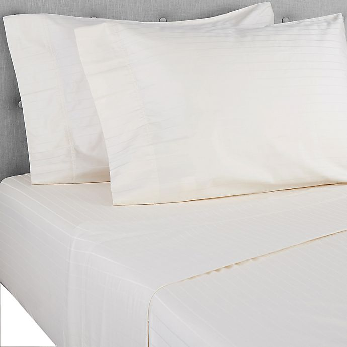 Alternate image 1 for Nestwell™ Pima Cotton 500-Thread-Count Full Sheet Set in Birch Stripe