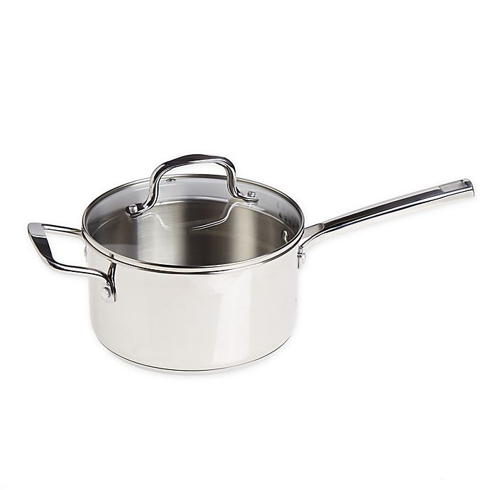 Alternate image 1 for Our Table™ 3.5 qt. Stainless Steel Covered Saucepan