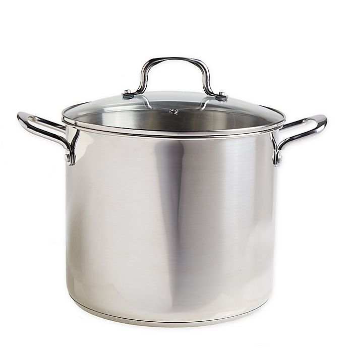 Alternate image 1 for Our Table™ Stainless Steel Covered Stock Pot