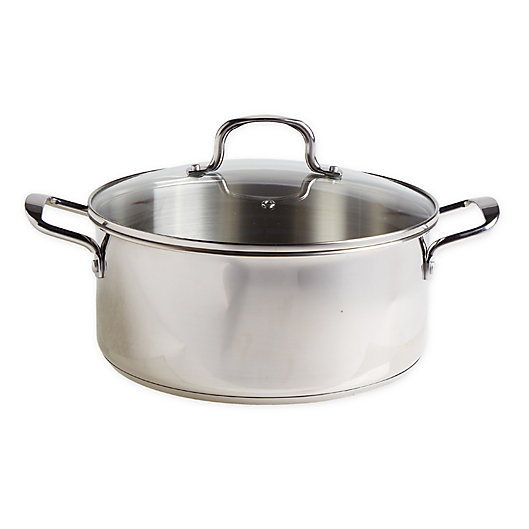 Alternate image 1 for Our Table™ 7.5 qt. Stainless Steel Covered Dutch Oven