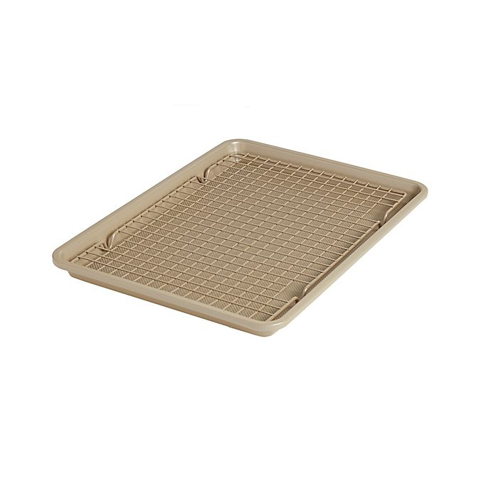 Alternate image 1 for Our Table™ 2-Piece Textured Jelly Roll Pan and Cooling Rack Set
