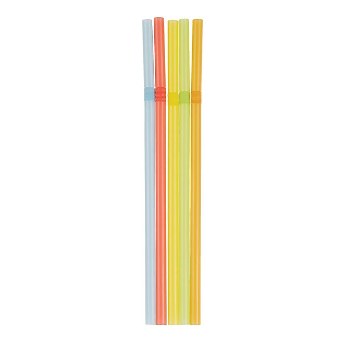 Alternate image 1 for Simply Essential™ 125-Count Flexible Plastic Straws