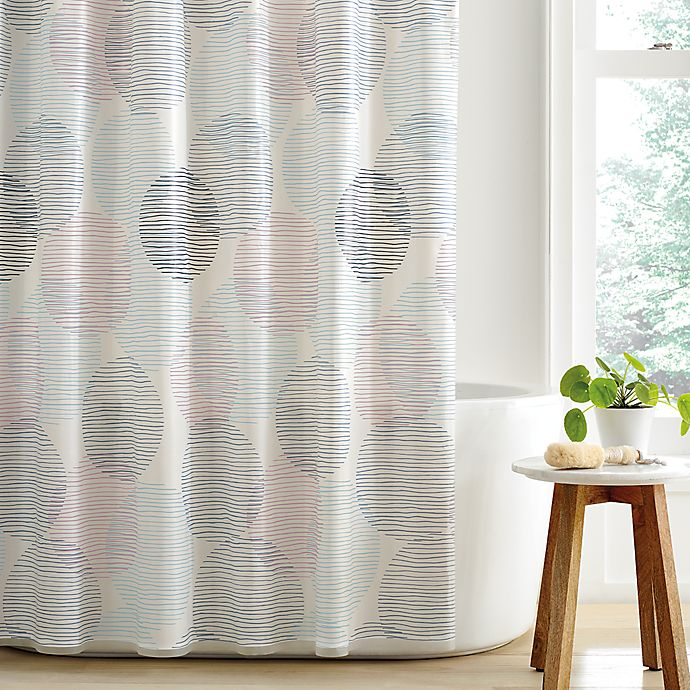 Alternate image 1 for Simply Essential™ Overlapping Circles PEVA Shower Curtain