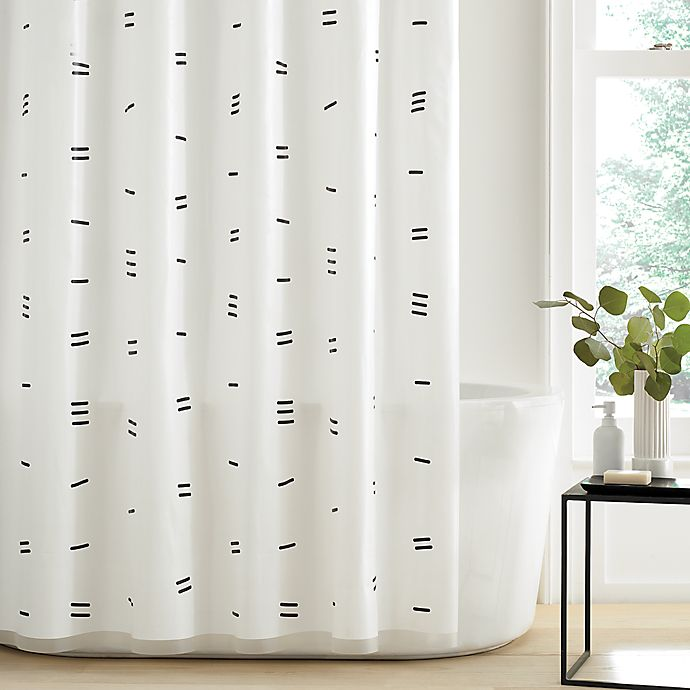 Alternate image 1 for Simply Essential™ Dashed PEVA Shower Curtain