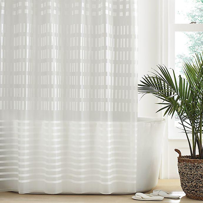 Alternate image 1 for Simply Essential™ Geo-Block PEVA Shower Curtain