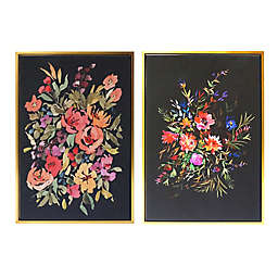 Wild Sage™ Floral 20-Inch x 30-Inch Gold-Framed Canvas Wall Décor (Set of 2)