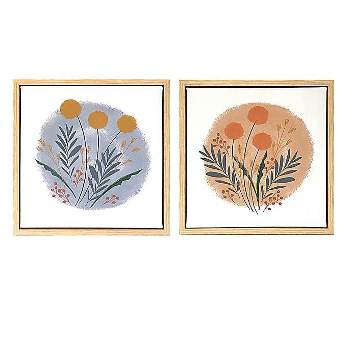 Alternate image 1 for Wild Sage™ Botanicals 12-Inch x 12-Inch Framed Canvas Wall Décor (Set of 2)