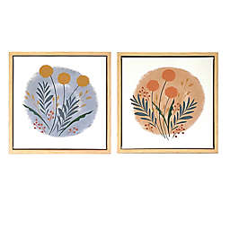 Wild Sage™ Botanicals 12-Inch x 12-Inch Framed Canvas Wall Décor (Set of 2)