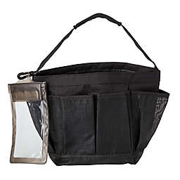 Simply Essential™ Mesh Shower Tote in Black