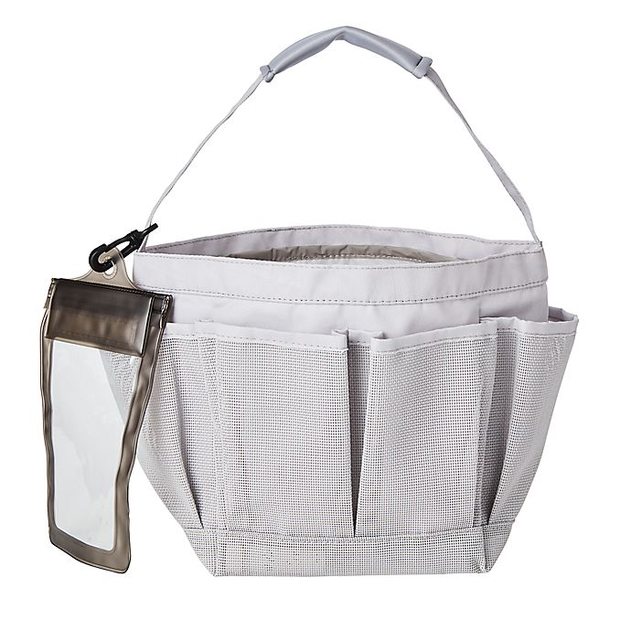 Alternate image 1 for Simply Essential™ Mesh Shower Tote in Grey