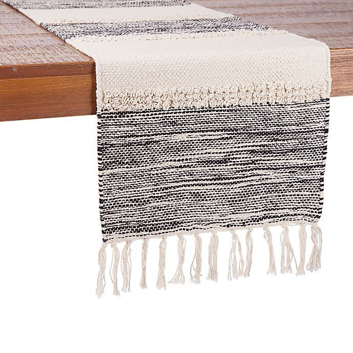Alternate image 1 for Our Table™ Fringe Stripe Table Runner