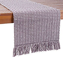 Our Table™ Fringe Stitch Striped Table Runner