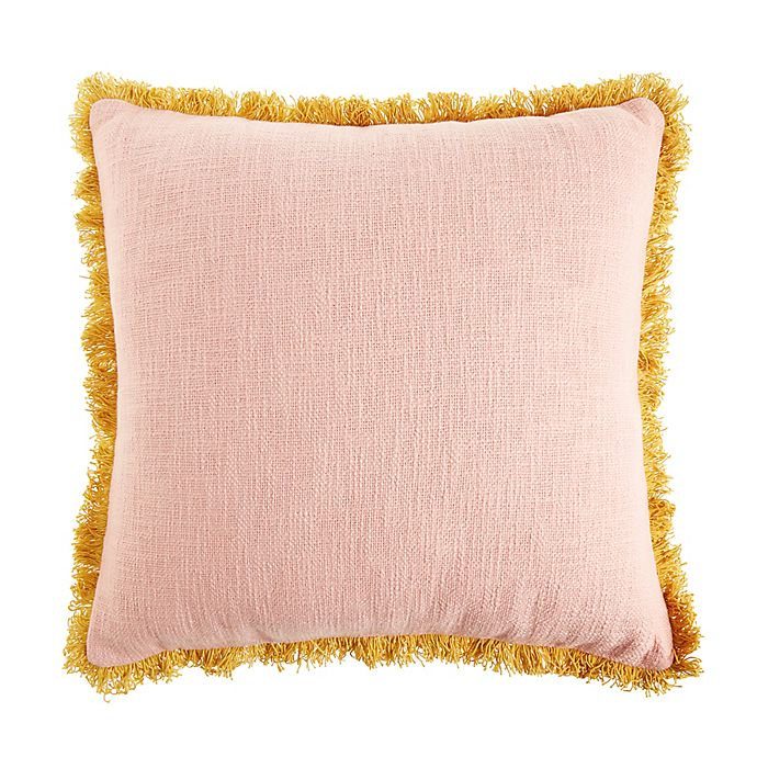 Alternate image 1 for Wild Sage™ Jacqueline Square Throw Pillow in Pink/Gold