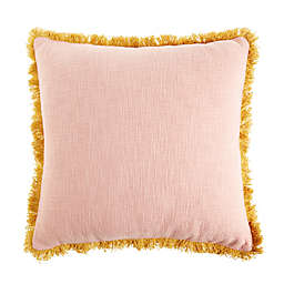 Wild Sage Jacqueline Square Throw Pillow in Pink/Gold