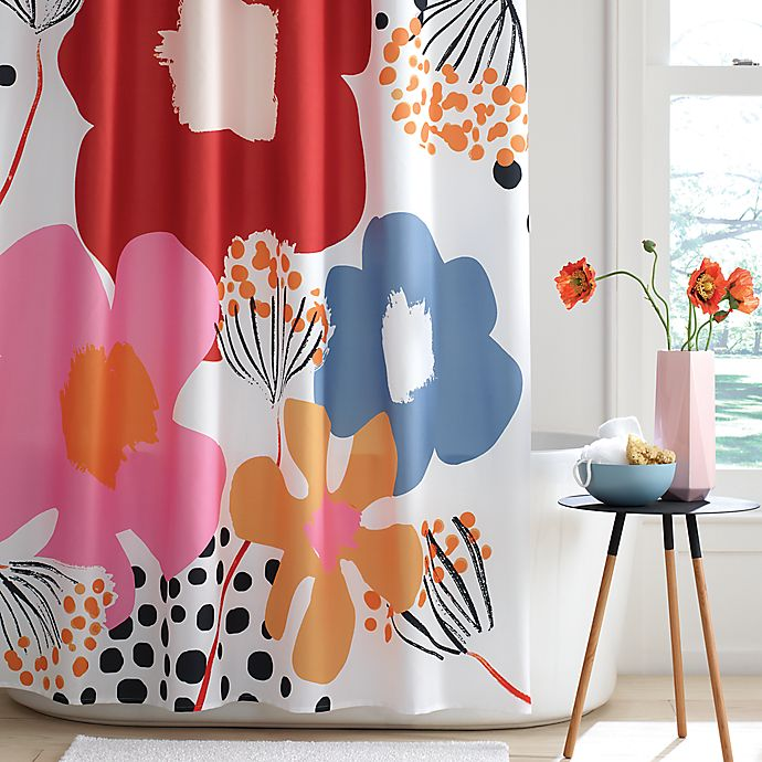 Alternate image 1 for Simply Essential™ Engineered Floral Shower Curtain