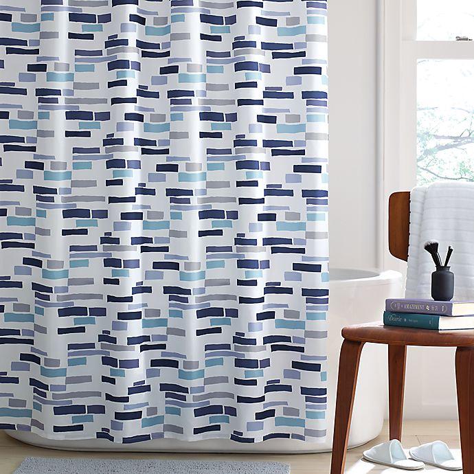 Alternate image 1 for Simply Essential™ Broken Stripe Shower Curtain