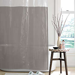 Simply Essential™ Colorblock PEVA Shower Curtain