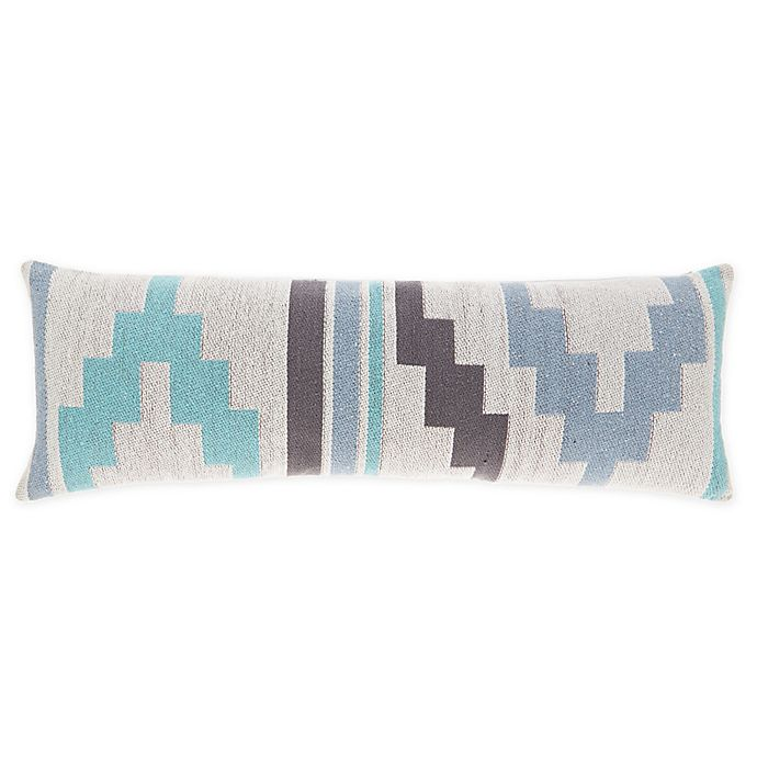 Alternate image 1 for Wild Sage™ Kaiah Tribal Oblong Throw Pillow in Blue