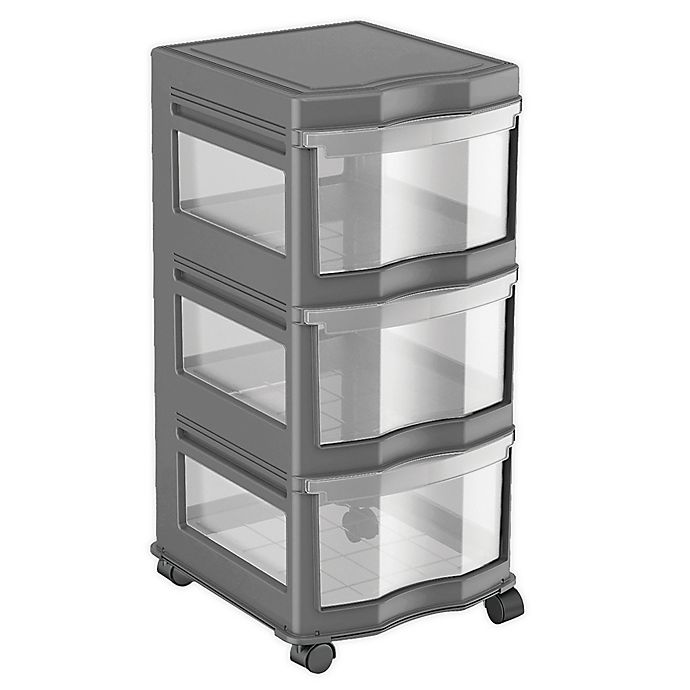 Alternate image 1 for Simply Essential™ 3-Drawer Narrow Chest with Wheels