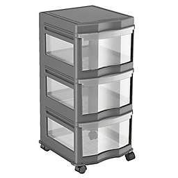 Simply Essential™ 3-Drawer Narrow Chest with Wheels