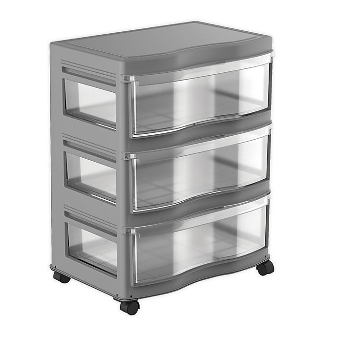 Alternate image 1 for Simply Essential™ 3-Drawer Wide Chest with Wheels