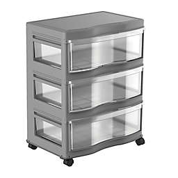 Simply Essential™ 3-Drawer Wide Chest with Wheels