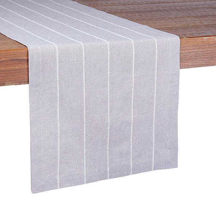 Alternate image 1 for Our Table™ Mini Stripe Table Runner in Grey