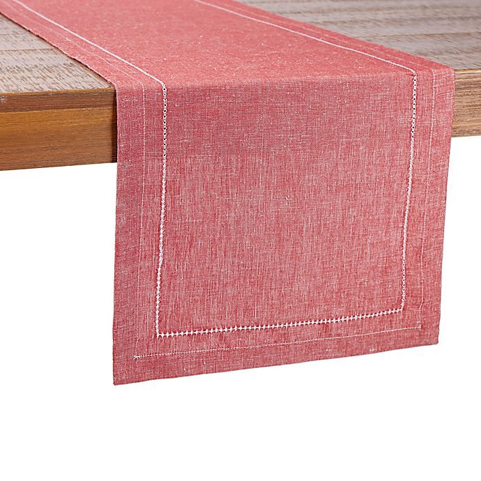 Alternate image 1 for Our Table™ Hem Stitch Border Table Runner in Red