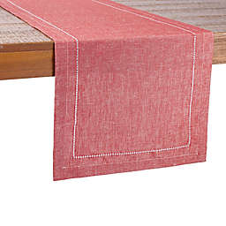 Our Table™ Hem Stitch Border Table Runner in Red
