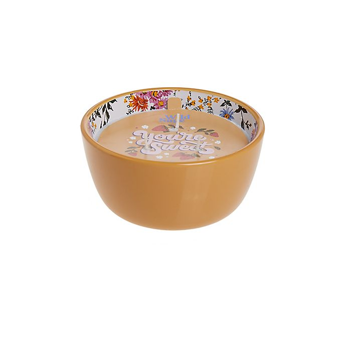 Alternate image 1 for Wild Sage™ Capri Pomelo 14 oz. 3-Wick Hand-Painted Bowl Candle