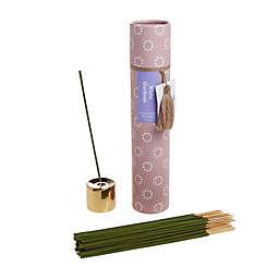 Wild Sage™ White Gardenia 50-Count Incense Sticks and Holder Set
