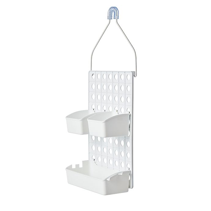 Alternate image 1 for Simply Essential™ Adjustable Plastic Bath Caddy in White