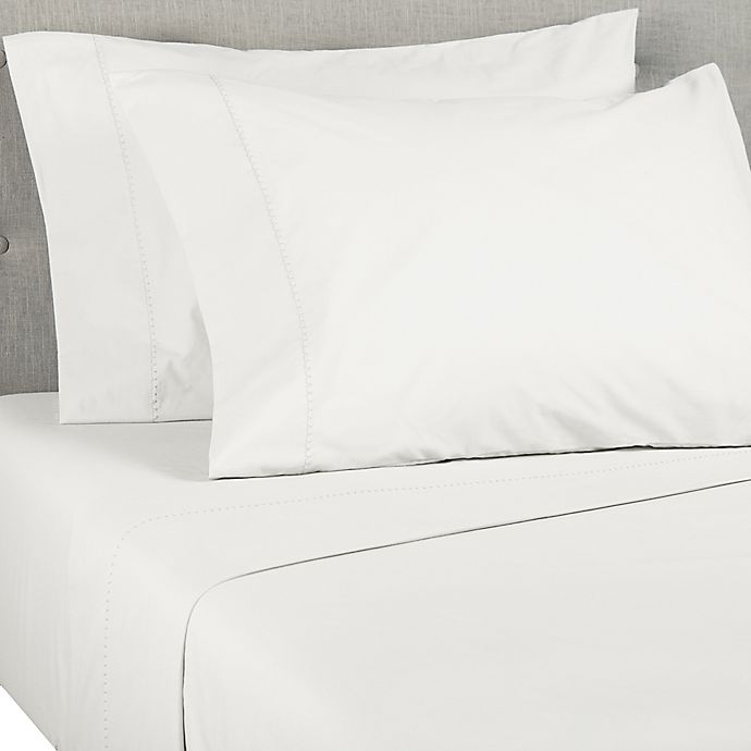 Alternate image 1 for Wild Sage™ Brushed Cotton Percale 300-Thread-Count California King Sheet Set in Coconut Milk