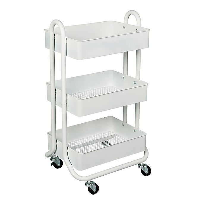Alternate image 1 for Squared Away™ 3-Tier Bath Storage Cart