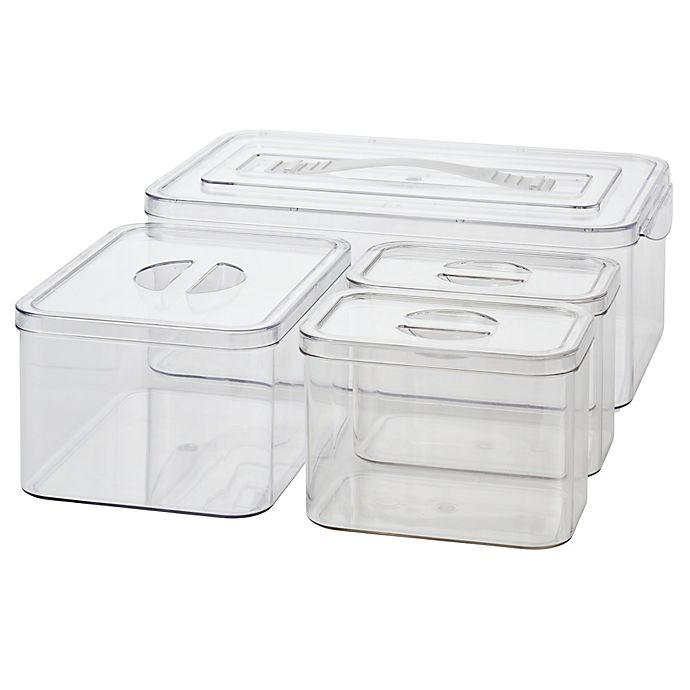 Alternate image 1 for Simply Essential™ Nesting Bath Storage Bins (Set of 4)