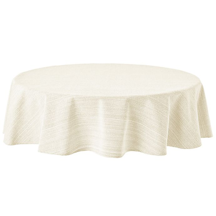 Alternate image 1 for Our Table™ Round Textured Tablecloth