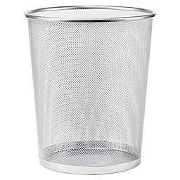 Simply Essential™ Mesh Metal 22.7-Liter Wastebasket in Silver