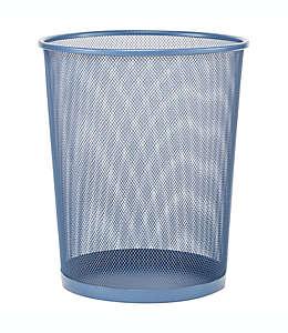 Bote de basura de malla de metal Simply Essential™ color azul